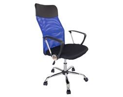 Krzesło biurowe fotel gamingowy ekoskóra obrotowy do biurka L406B czarno-niebieskie