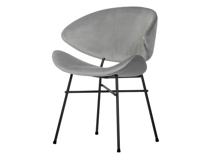 Krzesło Cheri - velours - jasnoszare Kolor Szary Kategoria Krzesła kuchenne