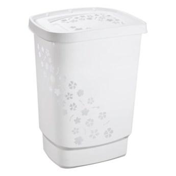 Kosz na pranie ROTHO Flowers 1756001100RP 55L Biały