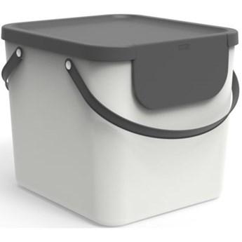 Kosz na śmieci ROTHO 1034401023 Albula 40L Biały