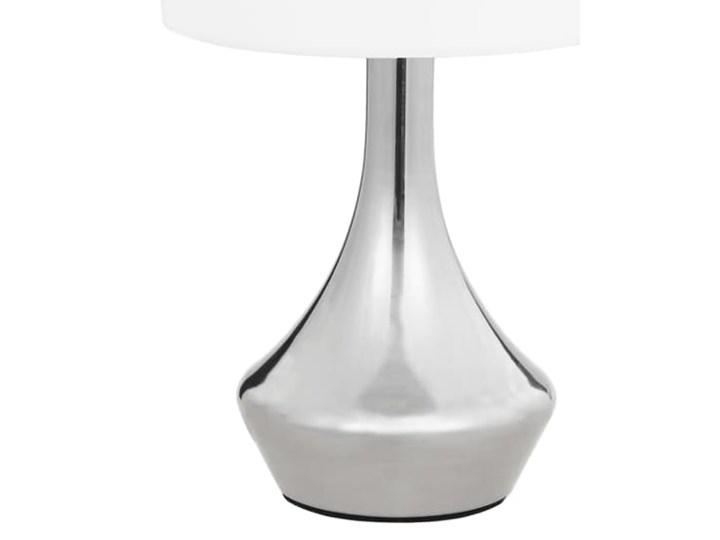 Dotykowa lampka nocna do sypialni 2 sztuki - EX145-Volma Wysokość 32 cm Lampa nocna Kolor Biały Kategoria Lampy stołowe
