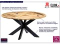 Okrągły stół z drewna mango – Gebel 3X Drewno Wysokość 76 cm Długość 150 cm  Rozkładanie