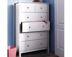 KOMODA 6 szuflad wys.140 - kolor biały