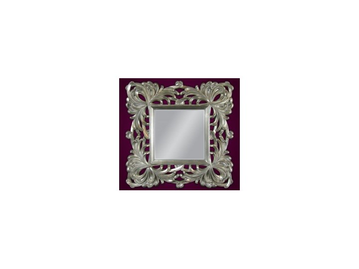Srebrne Lustro Dekoracyjne Kwadratowe 100x100