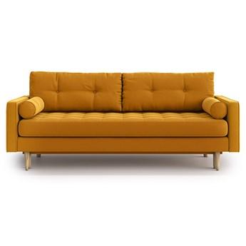 Sofa Esme II pikowana z funkcją spania, Golden Velvet