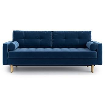 Sofa Esme II pikowana z funkcją spania, Navy Blue