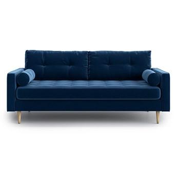 Sofa Esme II pikowana 3-osobowa, Navy Blue