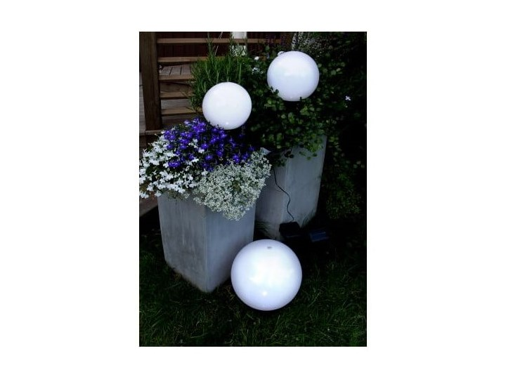 Solarna lampa ogrodowa LED Best Season Globe Stick, ⌀ 20 cm Lampa solarna Kolor Czarny Lampa LED Kategoria Lampy ogrodowe