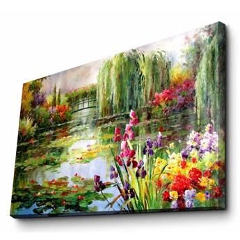 Obraz na płótnie Impressionist Garden, 70x45 cm