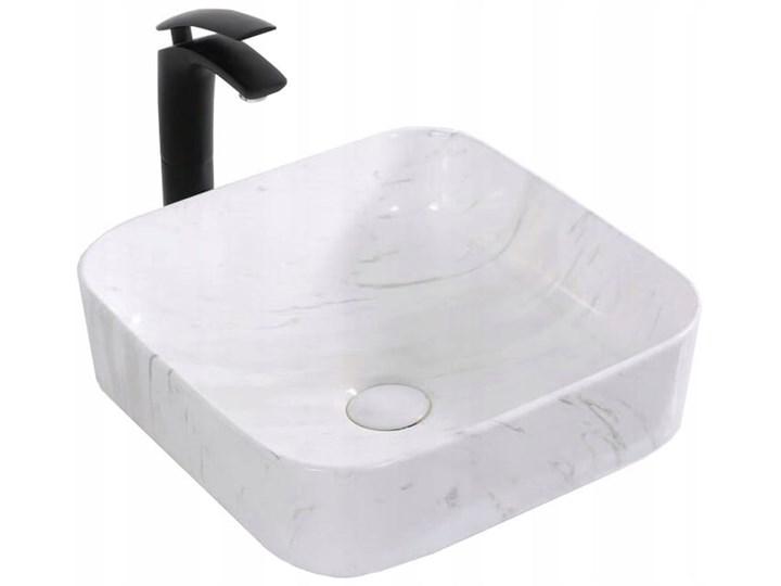 VELDMAN UMYWALKA CERAMICZNA RODO MARMUR Nablatowe Szerokość 39 cm Ceramika Kwadratowe Kategoria Umywalki