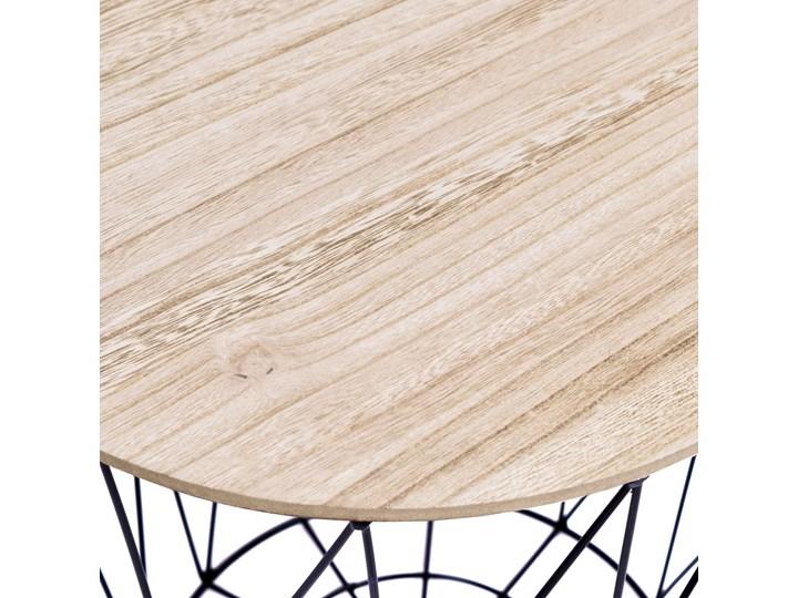 Zestaw trzech stolików drucianych APRIL czarny Płyta MDF Drewno Wysokość 35 cm Metal Wysokość 30 cm Wysokość 39 cm Stal Zestaw stolików Styl Industrialny Styl Skandynawski