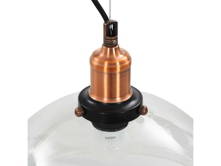 Przezroczysta okrągła lampa wisząca 2 sztuki - EX154-Orta Szkło Kolor Miedziany Lampa z kloszem Metal Styl Industrialny