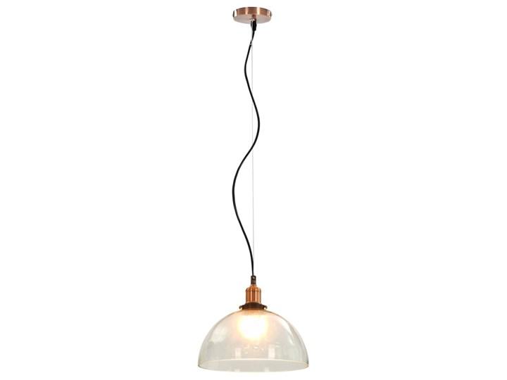 Przezroczysta okrągła lampa wisząca 2 sztuki - EX154-Orta Kolor Przezroczysty Metal Szkło Lampa z kloszem Kategoria Lampy wiszące