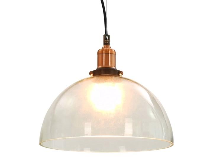 Przezroczysta okrągła lampa wisząca 2 sztuki - EX154-Orta Szkło Kolor Przezroczysty Metal Lampa z kloszem Kolor Beżowy