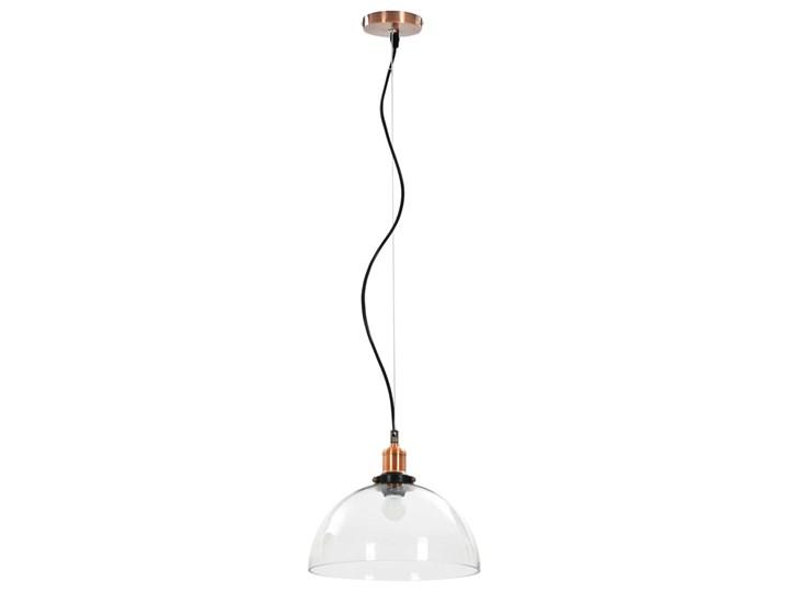 Przezroczysta okrągła lampa wisząca 2 sztuki - EX154-Orta Lampa z kloszem Styl Nowoczesny Metal Szkło Kolor Przezroczysty