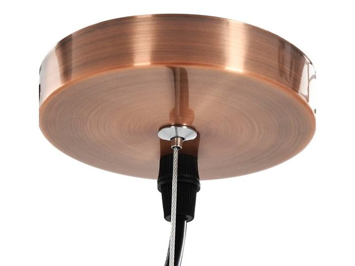 Przezroczysta okrągła lampa wisząca 2 sztuki - EX154-Orta Metal Lampa z kloszem Szkło Kategoria Lampy wiszące Kolor Beżowy