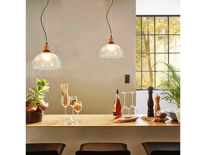 Przezroczysta okrągła lampa wisząca 2 sztuki - EX154-Orta Metal Szkło Lampa z kloszem Styl Industrialny