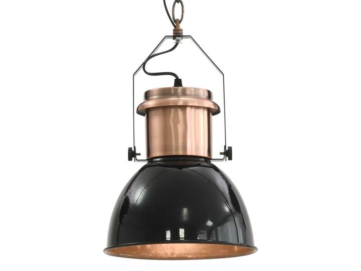 Czarna lampa wisząca w stylu loftowym 2 sztuki - EX156-Nilos Lampa z kloszem Metal Kolor Czarny Kategoria Lampy wiszące