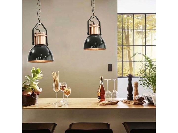 Czarna lampa wisząca w stylu loftowym 2 sztuki - EX156-Nilos Lampa z kloszem Metal Kategoria Lampy wiszące Kolor Czarny
