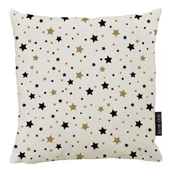 Świąteczna poduszka z poszewką z bawełny Butter Kings Golden Stars, 45x45