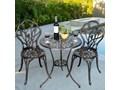Meble ogrodowe żeliwne stół i krzesła Stoły z krzesłami Żeliwo Aluminium Styl Glamour