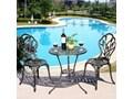 Meble ogrodowe żeliwne stół i krzesła Aluminium Żeliwo Stoły z krzesłami Kolor Srebrny