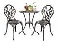 Meble ogrodowe żeliwne stół i krzesła Kolor Srebrny Żeliwo Stoły z krzesłami Aluminium Kolor Szary