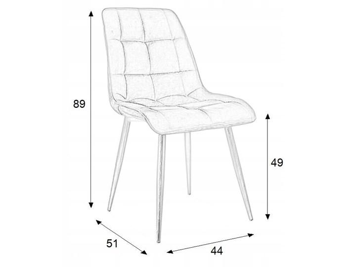 Krzesło CHIC VELVET Curry Signal Wysokość 88 cm Tapicerowane Głębokość 58 cm Z podłokietnikiem Metal Welur Pikowane Stal Tkanina Szerokość 50 cm Kategoria Krzesła kuchenne