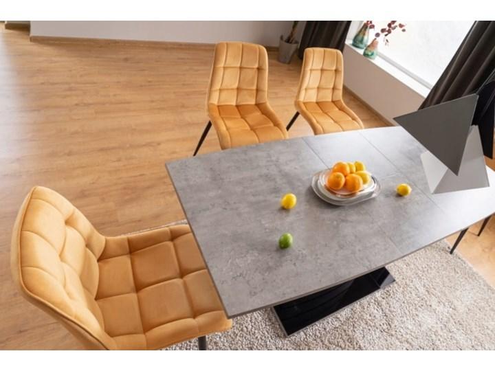 Krzesło CHIC VELVET Curry Signal Welur Tkanina Stal Z podłokietnikiem Wysokość 88 cm Głębokość 58 cm Pikowane Metal Szerokość 50 cm Tapicerowane Pomieszczenie Salon