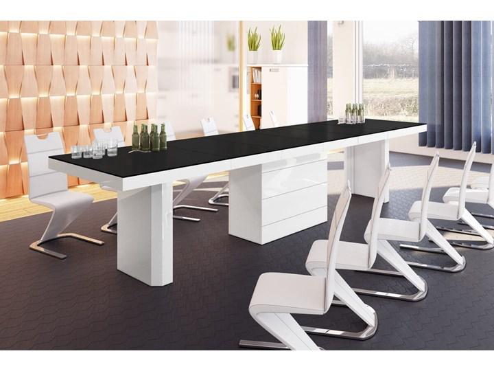 Stół rozkładany KOLOS 140-332 czarno-biały mat - Meb24.pl