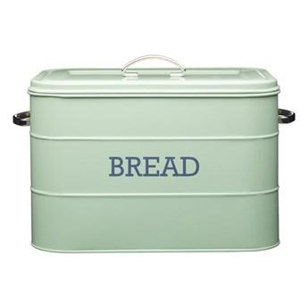 Zielony metalowy pojemnik na chleb Kitchen Craft Nostalgia