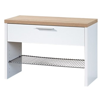 Biała ławka z półką na buty Germania Top