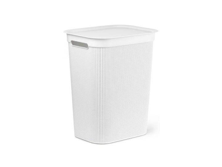 Kosz na pranie ROTHO Brisen 50L Biały Tworzywo sztuczne Kolor Szary Kategoria