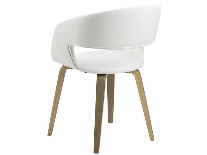 Krzesło Nova 51x78 cm białe ekoskóra nogi olejowane Tapicerowane Drewno Skóra ekologiczna Wysokość 77 cm Tkanina Z podłokietnikiem Głębokość 55 cm Szerokość 51,5 cm Kolor Biały