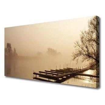 Obraz na Płótnie Most Woda Mgła Krajobraz