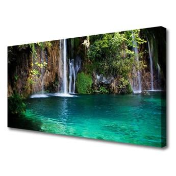Obraz na Płótnie Jezioro Wodospad Natura