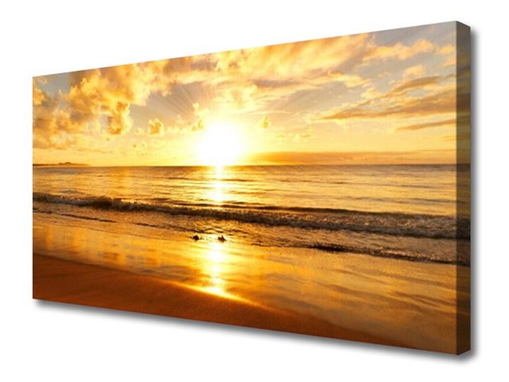 Obraz na Płótnie Morze Słońce Krajobraz Wymiary 50x100 cm Wymiary 50x125 cm