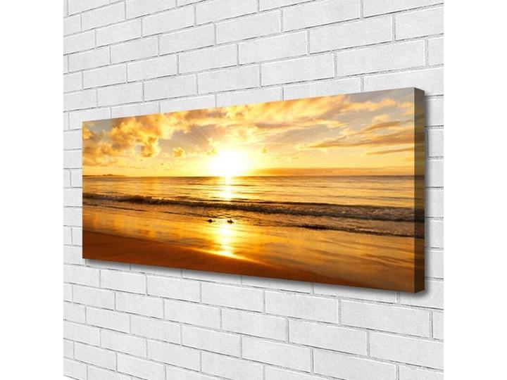 Obraz na Płótnie Morze Słońce Krajobraz Wymiary 70x140 cm Pomieszczenie Salon