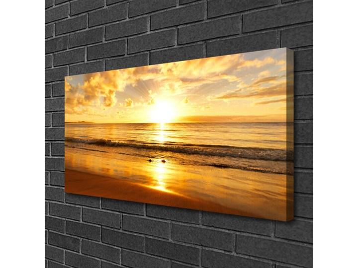 Obraz na Płótnie Morze Słońce Krajobraz Pomieszczenie Biuro i pracownia Wymiary 50x125 cm