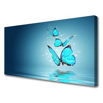 Obraz Canvas Niebieski Motyle Woda Sztuka