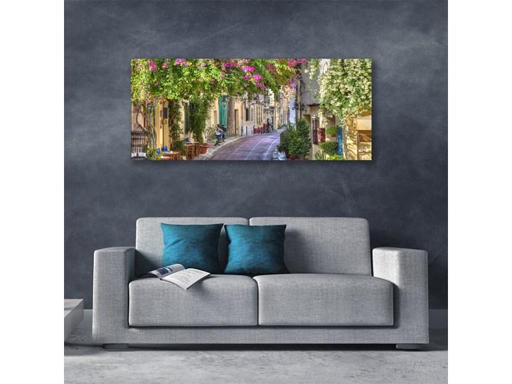 Obraz Canvas Alejka Kwiaty Domy Roślina Wzór Natura Kategoria Obrazy