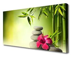 Obraz Canvas Bambus Kwiat Kamienie Zen