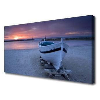Obraz Canvas Łódka Plaża Słońce Krajobraz