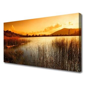 Obraz Canvas Jezioro Krajobraz Zachód
