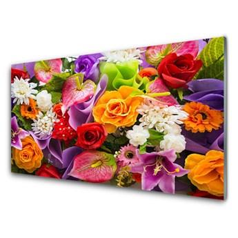 Obraz na Szkle Kwiaty Na Ścianę