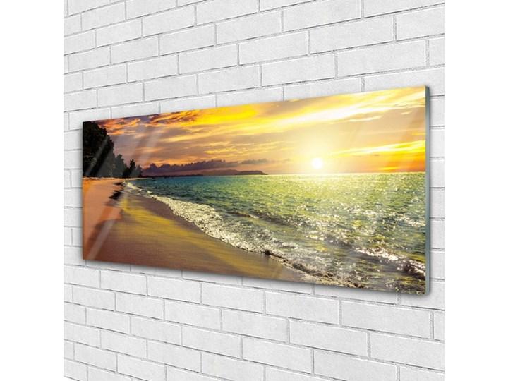Obraz na Szkle Słońce Plaża Morze Krajobraz Wymiary 60x120 cm Kategoria Obrazy