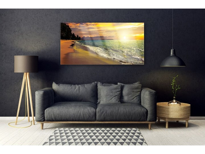 Obraz na Szkle Słońce Plaża Morze Krajobraz Wzór Natura Kategoria Obrazy