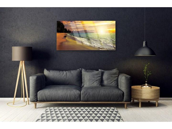 Obraz na Szkle Słońce Plaża Morze Krajobraz Pomieszczenie Biuro i pracownia Wymiary 70x140 cm