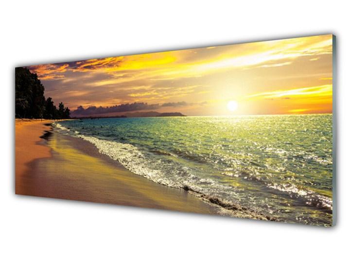 Obraz na Szkle Słońce Plaża Morze Krajobraz Wymiary 70x140 cm Kategoria Obrazy