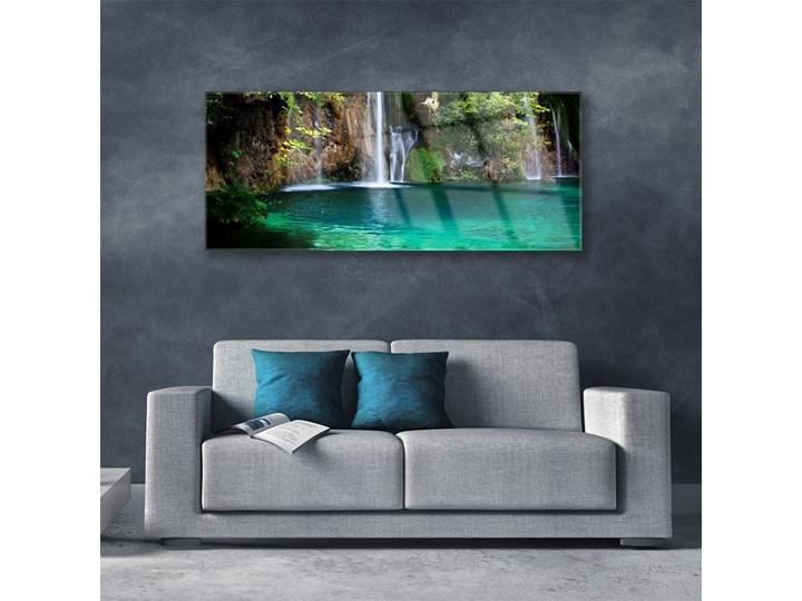 Obraz na Szkle Jezioro Wodospad Natura Wymiary 50x125 cm